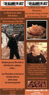 Souvenir de la rencontre du  6 Décembre 2013 aux Allumés du Jazz