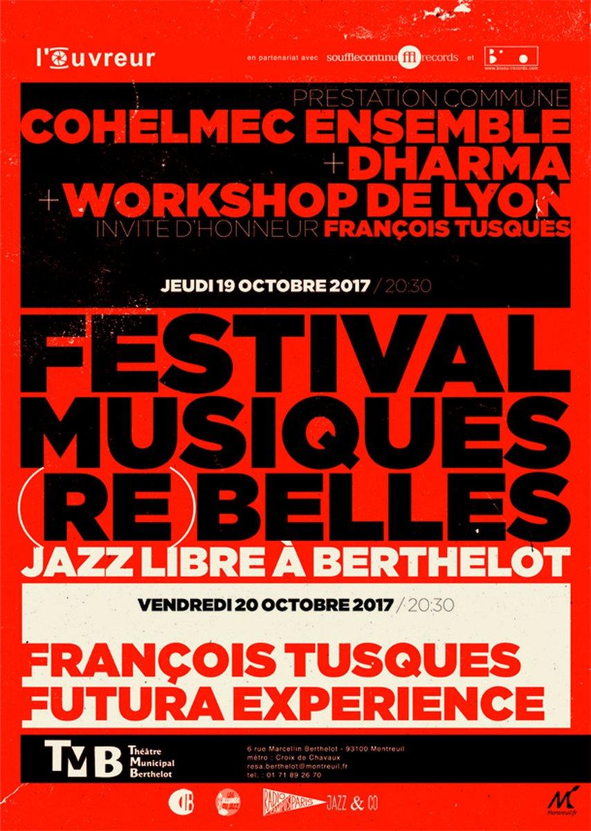 Les 19 et 20 octobre, le Théâtre Municipal Berthelot, le Souffle continu Records et Bisou records proposent deux soirées