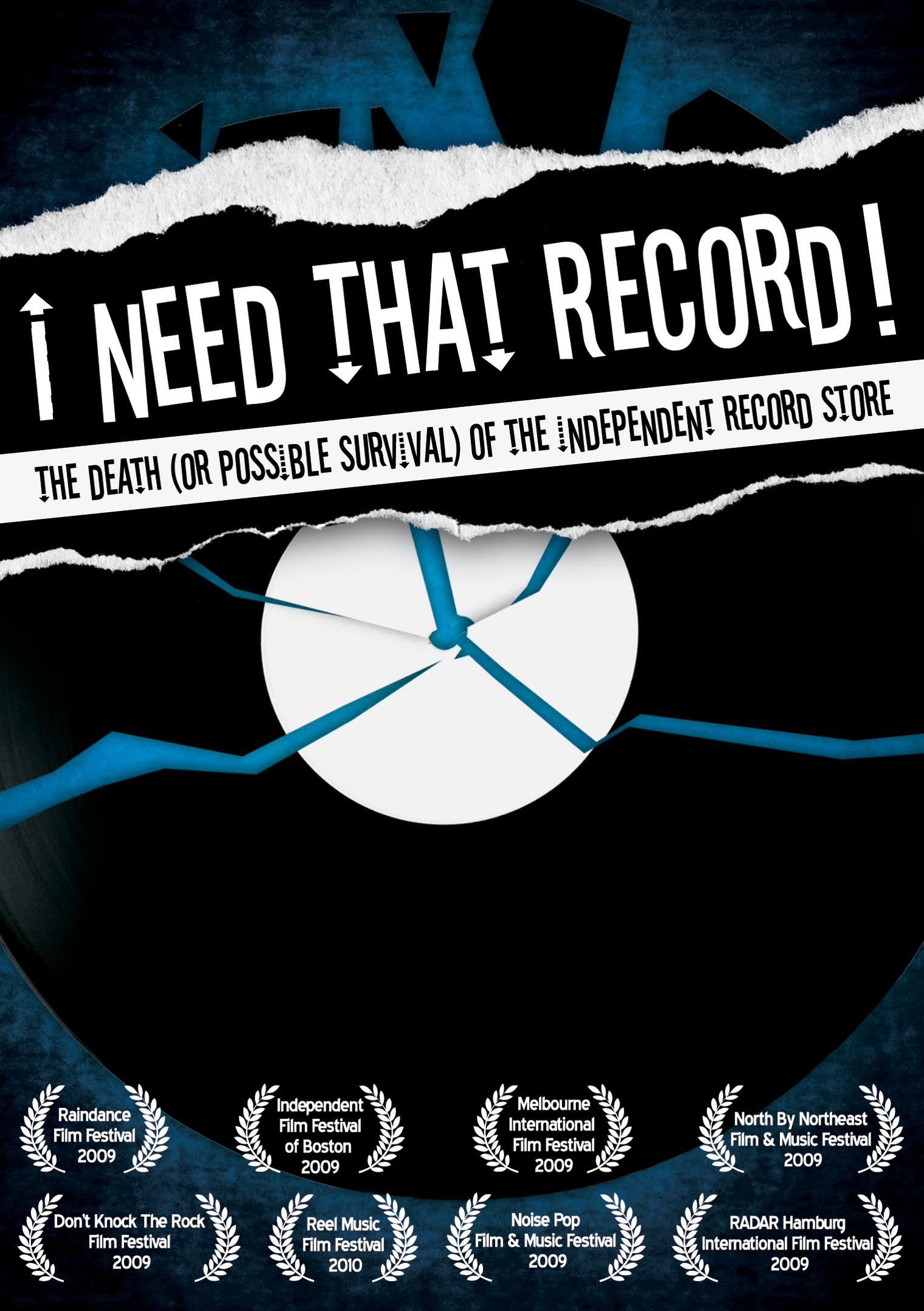 Le film «I need that record» sera diffusé le Vendredi 3 novembre à Sommières