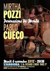 Mirtha Pozzi & Pablo Cueco  Percussions du Monde