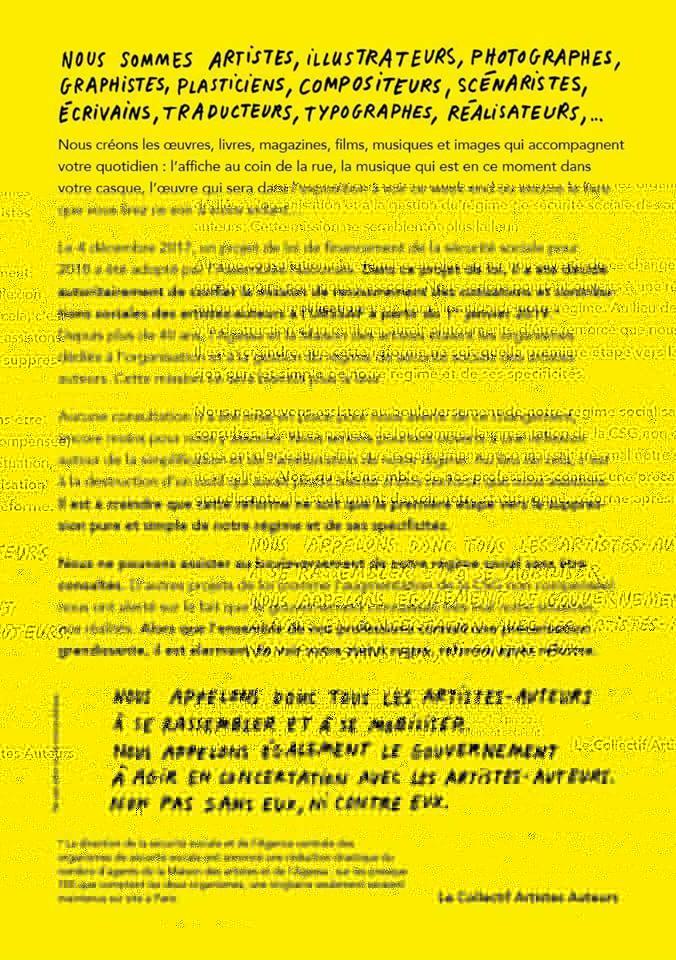 Les artistes-auteurs se mobilisent pour le régime de sécurité sociale