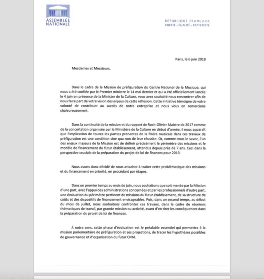 CNM : Demande de consultations