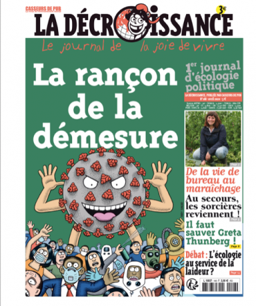 LA RANÇON DE LA DEMESURE :<br> DESSIN D'ANDY SINGER POUR LE JOURNAL LA DECROISSANCE