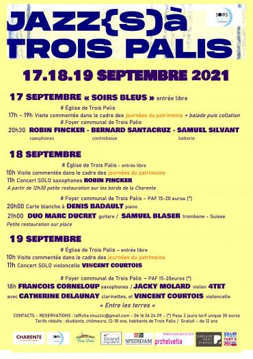 JAZZ(S) A TROIS PALIS 2021 - 17/18/19 SEPTEMBRE