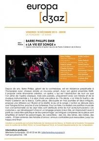 Barre Phillips Emir « La vie est un songe »
